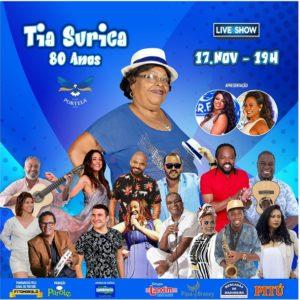 Tia Surica celebra 80º aniversário com live na quadra da Portela