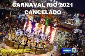 Grande dia! Pela decisão de cancelar o Carnaval do Rio em 2021