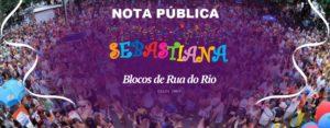 Sebastiana se manifesta sobre o cancelamento do Carnaval Rio 2021