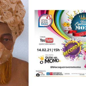 Bloco Quero Ver o Momo conhece ganhador do concurso cultural de máscaras de proteção