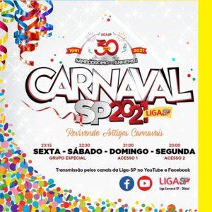 Liga-SP reexibe 34 desfiles durante o Carnaval 2021