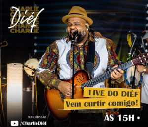 """CHARLIE DIÉF INTERPRETA SAMBAS AUTORAIS NA """"LIVE DO DIÉF"""""""
