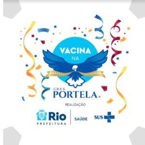 Quadra da Portela vira ponto de vacinação contra a Covid-19
