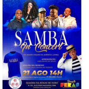 Samba In Concert será realizado em São Paulo no dia 21 de agosto