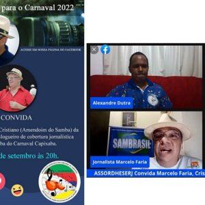 LIVE ASSORDHESERJ CONVIDA – Jornalismo e Sua Visão para o próximo Carnaval