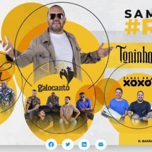 Galocantô, Samba do Xoxó, Grupo Arruda e Toninho Geraes no Renascença Clube